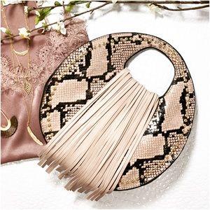 ✨RESTOCKED✨Taupe Snakeprint Handbag
